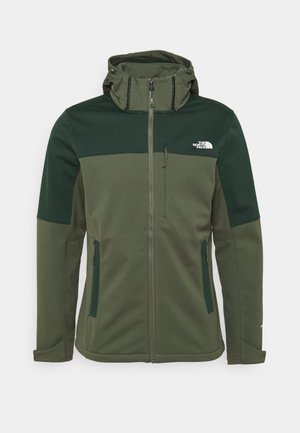 DIABLO DETACHABLE HOOD - Soft shell jacket - thyme/dark sage green