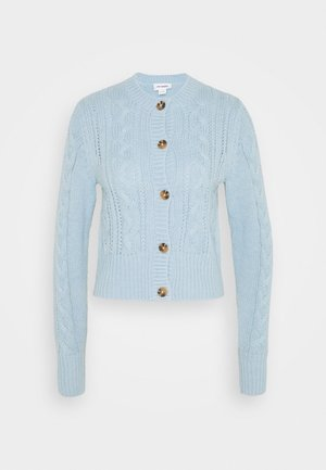 PAMELA CARDIGAN - Neuletakki - light blue