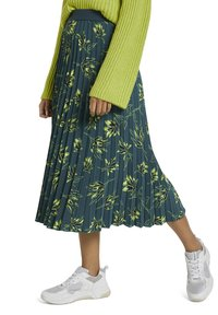 mine to five TOM TAILOR - Pleated skirt - deep green leaves design - 6