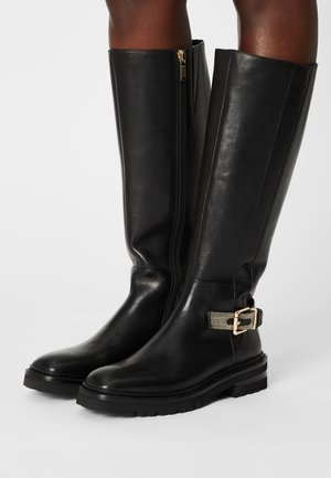 CHAIN SQUARE - Platform boots - black