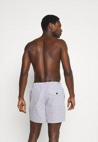 J.CREW - TRUNK - Swimming shorts - navy white - 0