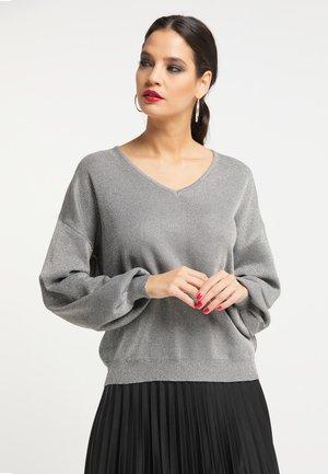 Jersey de punto - silber