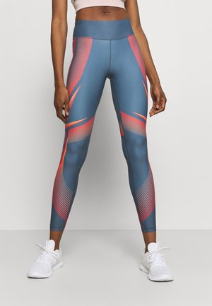 LUX BOLD WARP - Leggings - blue