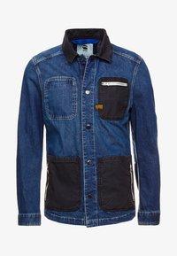 BLAKE ZIP OVERSHIRT - Denim jacket - kara denim dark aged