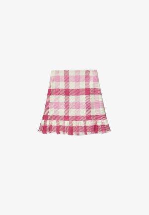 MIT VOLANTS - Jupe trapèze - pink/white