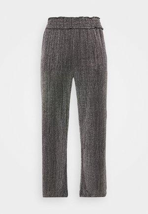 VMKAIDACOCO WIDE PANT - Trousers - black/silver