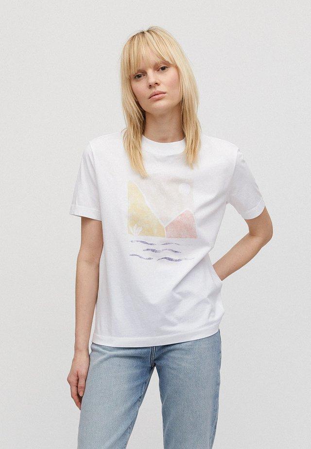 MIAA LANDSCAPE - T-shirt print - white