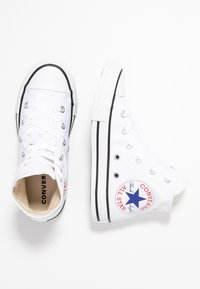 Converse - CHUCK TAYLOR ALL STAR OVERSIZED LOGO - High-top trainers - white/black - 0