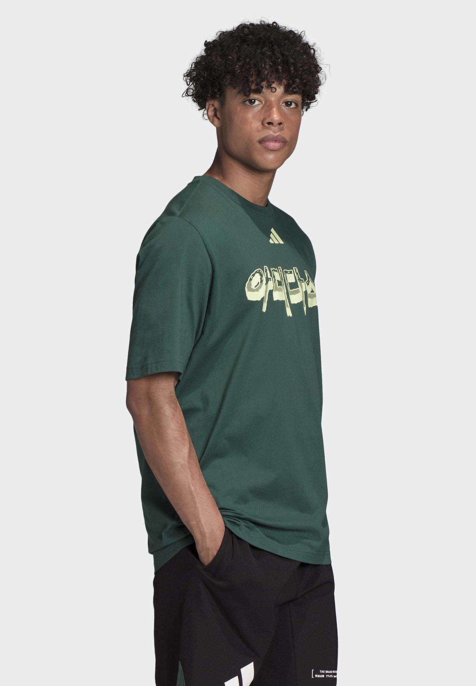 Adidas Performance Athletics Pack Language T-shirt - T-shirts Med Print Green