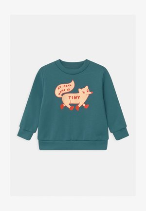 TINY FOX - Mikina - sea blue/cream
