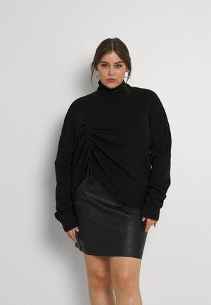 DRAWSTRING DETAIL - Sweter - black