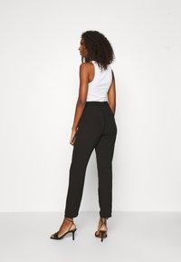 Vero Moda - VMSAGA STRING PANT - Trousers - black - 2