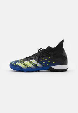 PREDATOR FREAK .3 TF - Astro turf trainers - core black/footwear white/solar yellow