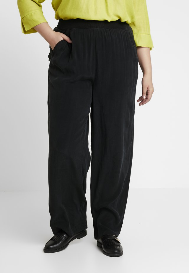 WIDE LEG TROUSER - Pantalones - black