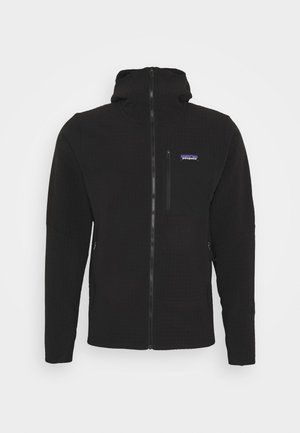 TECHFACE HOODY - Fleecejacke - black