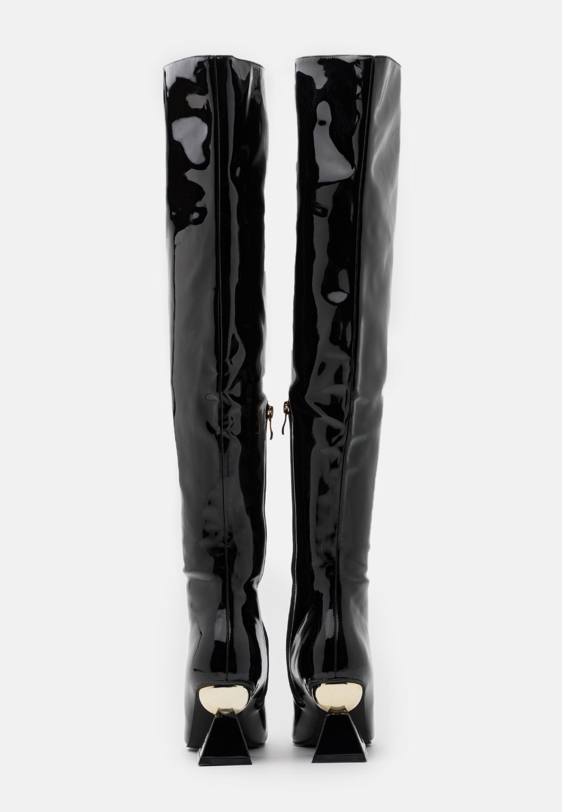 SPIRAL Overkneeskor black