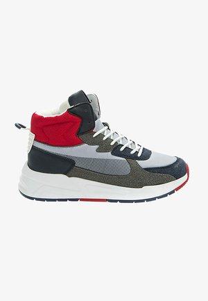 Sneakers hoog - grey/red