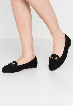 WIDE FIT GIANNA - Slip-ons - black