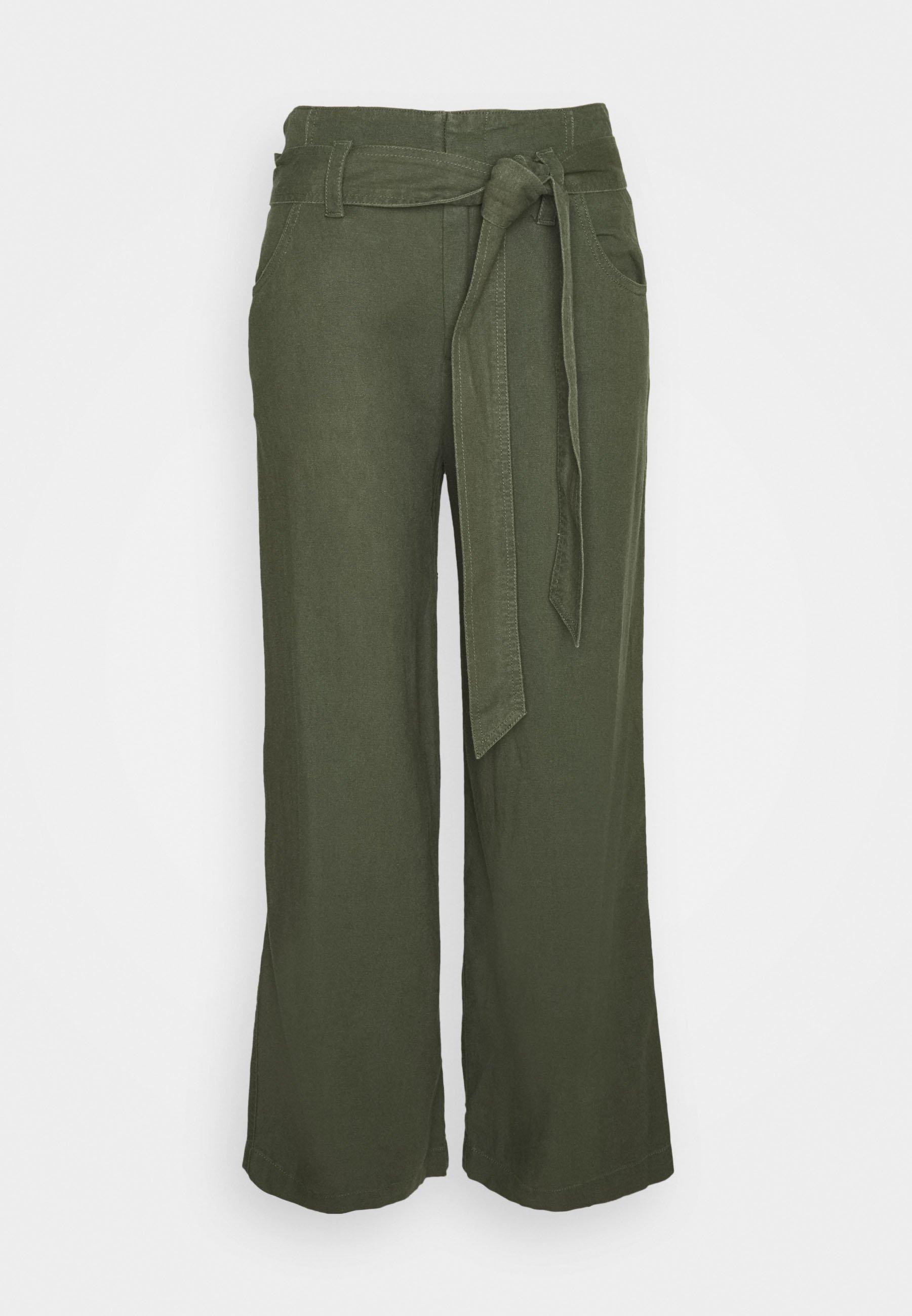 Women WIDE LEG SOLID - Trousers