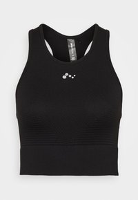 ONLY Play - ONPONITA CROPPED CIRCULAR - Medium support sports bra - black - 3