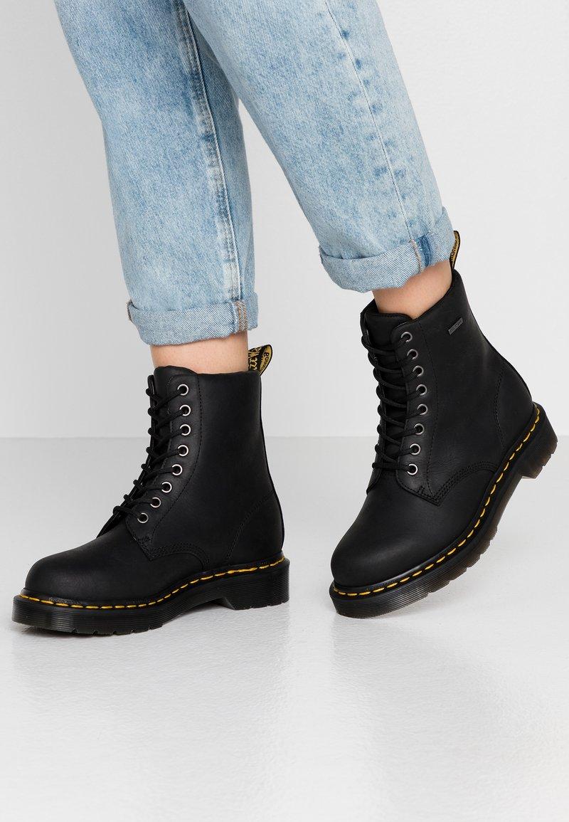 Dr. Martens - 1460 WP - Platform ankle boots - black republic