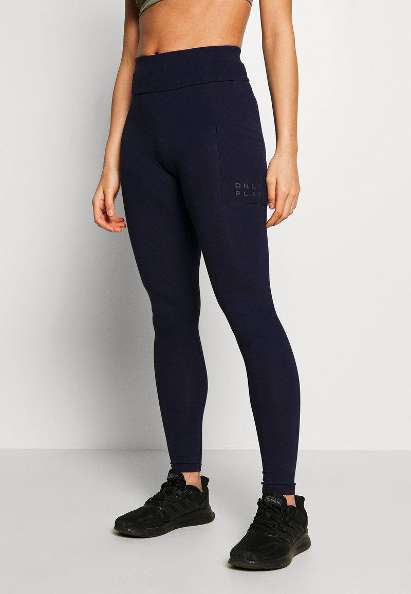 ONLY Play - ONPMILEY LIFE  - Legginsy - maritime blue/white gold