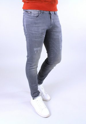 Jeans Skinny Fit - destroyed rustic gre