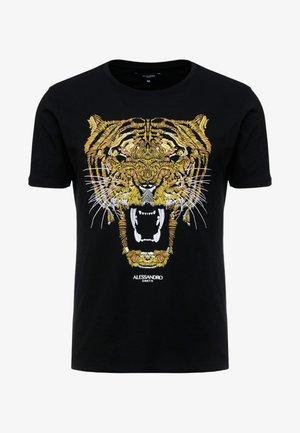 GROWLER  - Print T-shirt - black/gold