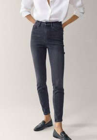 Massimo Dutti - HOHEM BUND - Jeans Skinny - grey - 0