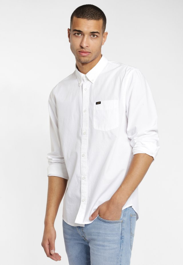 BUTTON DOWN - Camisa - white