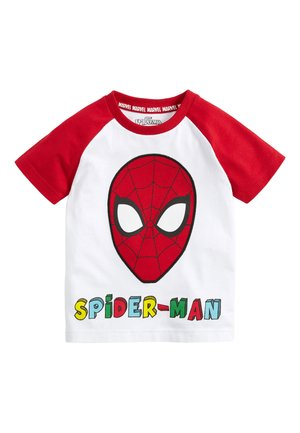 "WHITE SPIDER-MANÂ""¢ RAGLAN T-SHIRT (3MTHS-8YRS) - Print T-shirt - white"