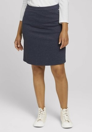 A-line skirt - navy twill structure