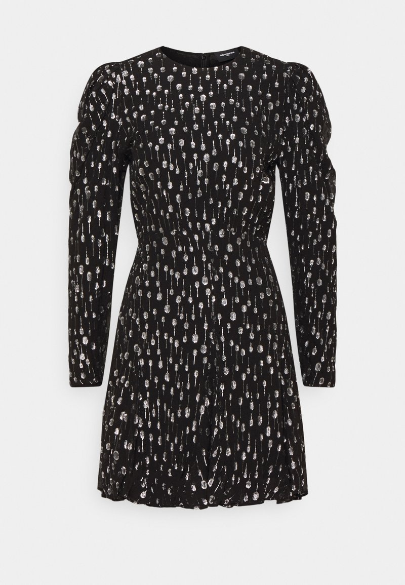The Kooples - ROBE - Cocktail dress / Party dress - black / silver