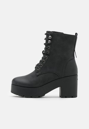EMELINE - Snørestøvletter - black