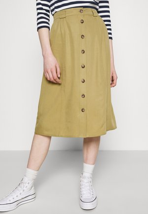 OBJCAT SKIRT - Spódnica trapezowa - khaki