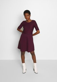 Esprit - STRIPED DRESS - Day dress - navy - 1