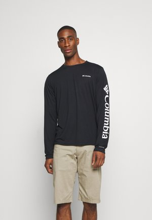 MILLER VALLEY LONG SLEEVE GRAPHIC TEE - Sportshirt - black/white
