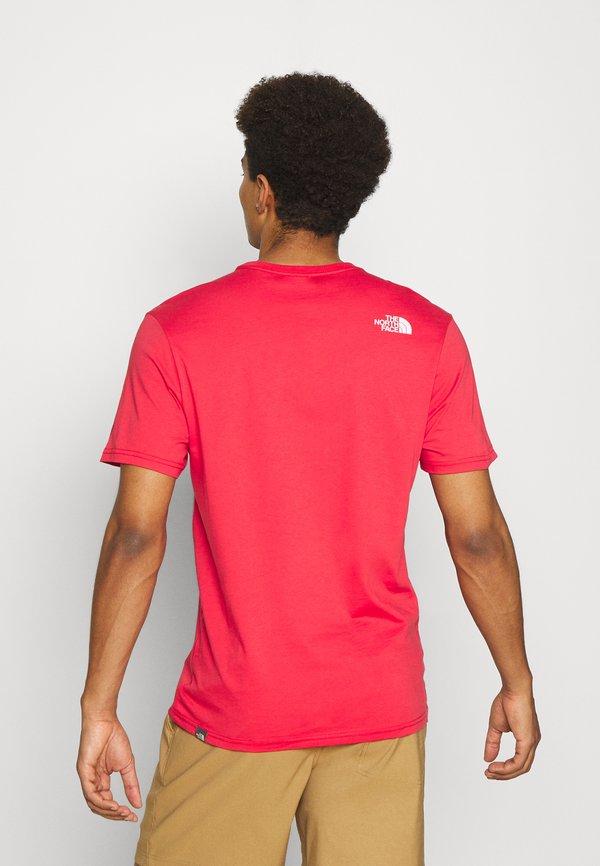 The North Face RUST TEE VINTAGE - T-shirt z nadrukiem - rococco red/ciemnoczerwony Odzież Męska ZCGX