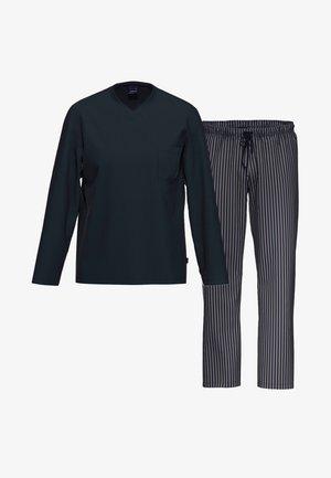2 SET - Pyjama - blau / blau gestreift