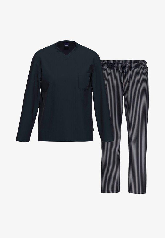 2 SET - Pyjama set - blau / blau gestreift