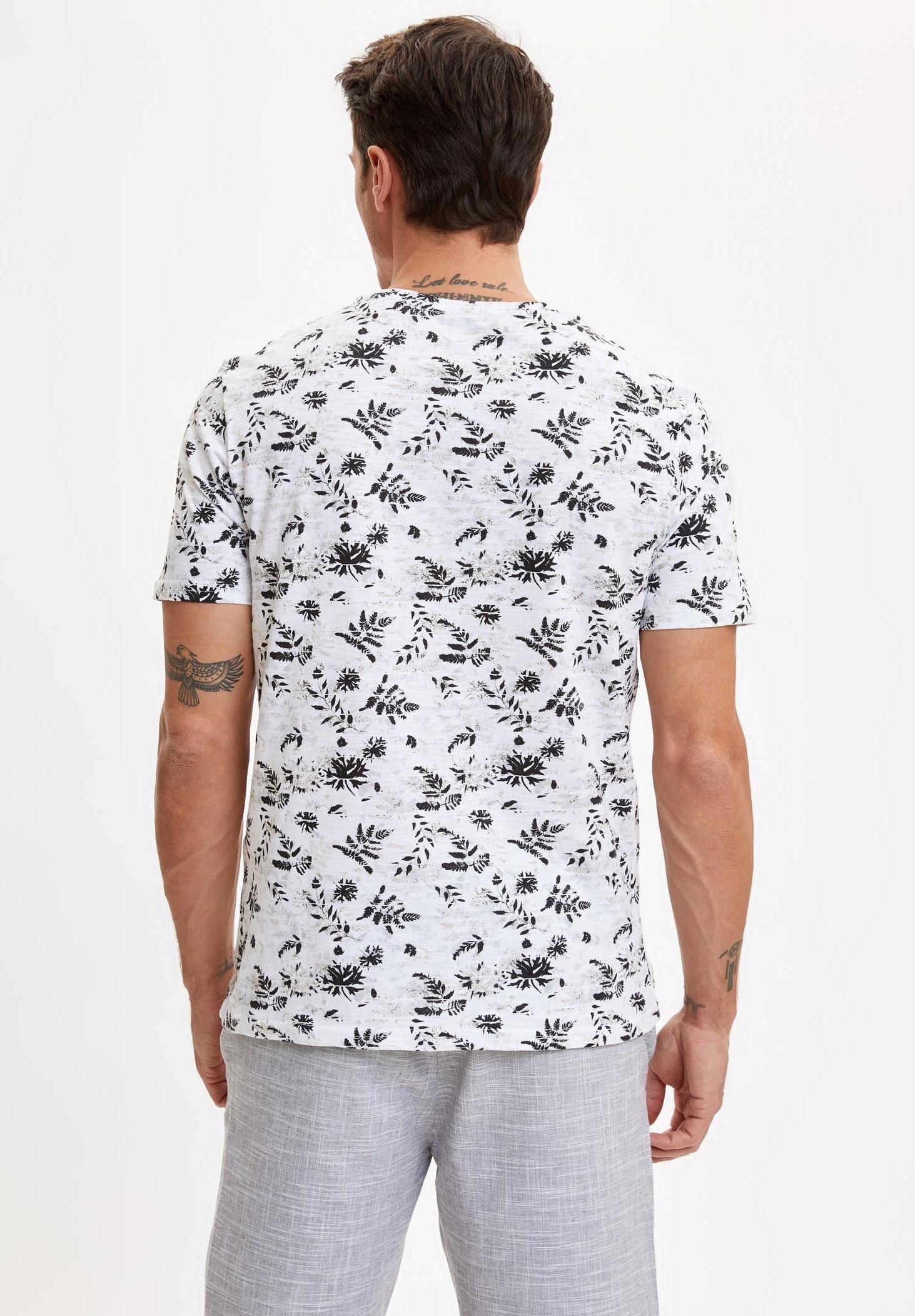 DeFacto Print T-shirt - white oHZjk
