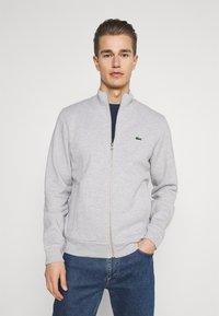 Lacoste - Zip-up sweatshirt - gris chine - 0