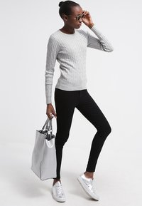 GANT - CABLE CREW - Pullover - light grey melange - 1