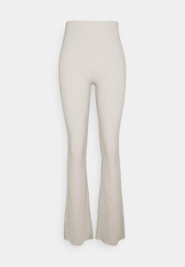 BEATA TROUSERS - Trousers - beige melange