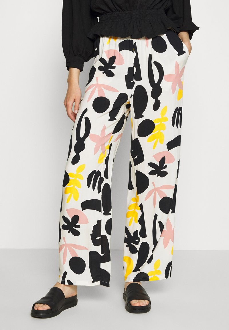 Monki - ARIA TROUSERS - Bukse - white dusty