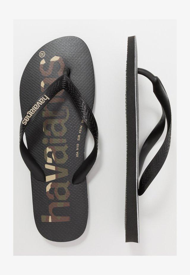 TOP LOGOMANIA UNISEX - Varvassandaalit - black/white