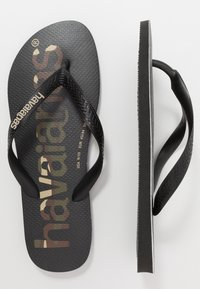 Havaianas - TOP LOGOMANIA UNISEX - Pool shoes - black/white - 1