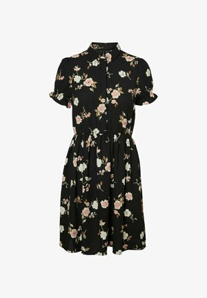 MINIKLEID PRINT - Shirt dress - black