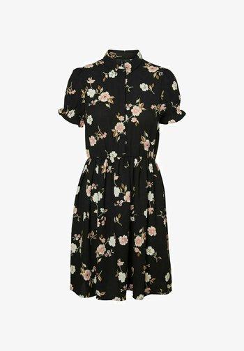 MINIKLEID PRINT - Shirt dress - black