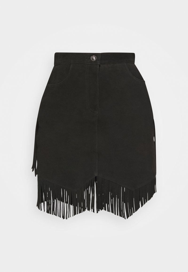 Pinko - ERNESTO SKIRT - Leather skirt - black